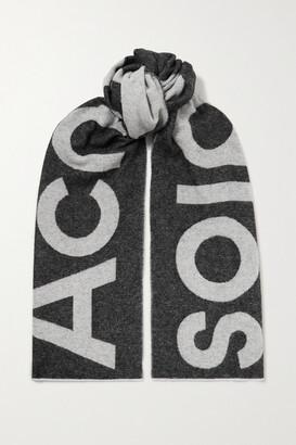 Acne Studios Intarsia Wool-blend Scarf - Gray
