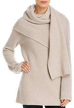 Tory Burch Wool & Cashmere Scarf Sweater