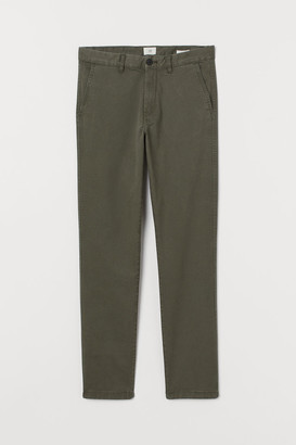 H&M Skinny Fit Cotton Chinos - Green