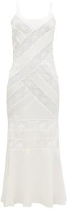 Sir - Aries Chantilly-lace Silk-charmeuse Slip Dress - Womens - White