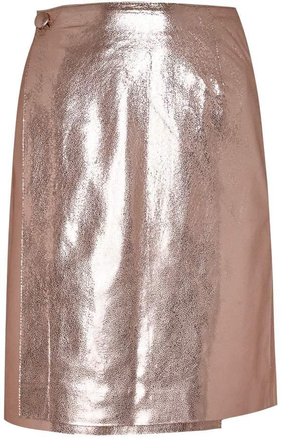 4c82dfcf63 Metallic Leather Skirt - ShopStyle