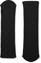Dries Van Noten Ribbed Wool Fingerless Gloves