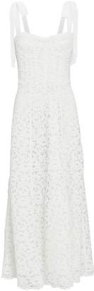 Jonathan Simkhai Lace Bustier Midi Dress