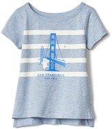Gap City and stripes slub tee