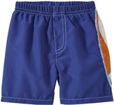 City Threads Surfboard Applique Swim Trunks (Baby) - Smurf-3-6 Months