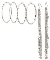 Charlotte Russe Hoop & Star Tassel Earrings Set