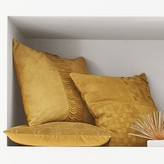 Suede Origami Cut Pillow Cover, Sunshine
