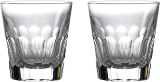 Waterford Jeff Leatham Icon Set of 2 Lead Crystal Double Old Fashioned Glasses