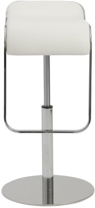 Euro Style Freddy 21-31-inch Adjustbable Bar/ Counter Stool, White/ Chrome