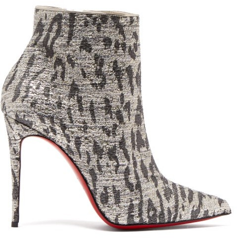 huge selection of ce260 2d1c9 So Kate 100 Leopard Print Ankle Boots - Womens - Silver
