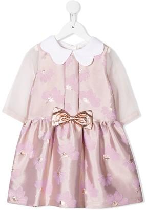 Hucklebones London Scalloped Collar Tea Dress