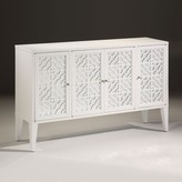 The Well Appointed House White Lacquer Sideboard or Media Cabinet