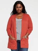 Old Navy Plus-Size Open-Front Long-Line Sweater