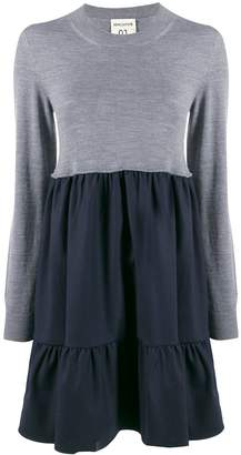 Semi-Couture Semicouture flared two-tone dress