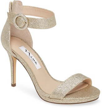 Nina Rudia Glitter Ankle Strap Sandal