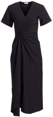 A.L.C. Edie Linen-Blend Wrap Midi Dress