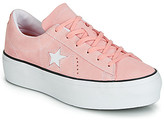 Converse ONE STAR PLATFORM SEASONAL COLOR OX women's Shoes (Trainers) in Pink