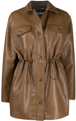 Han Kjobenhavn Drawstring Waist Faux-Leather Jacket