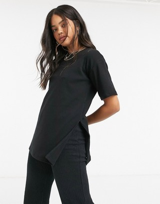 Cotton On Cotton:On oversized ribbed tee in black