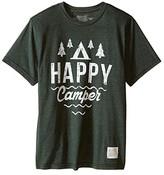 Original Retro Brand The Kids Happy Camper Short Sleeve Tee (Little Kids/Big Kids) (Heather Forest) Boy's T Shirt