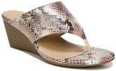 Nifty Snakeskin Embossed Wedge Sandal - Wide Width Available