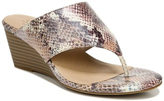 Naturalizer Nifty Snakeskin Embossed Wedge Sandal - Wide Width Available