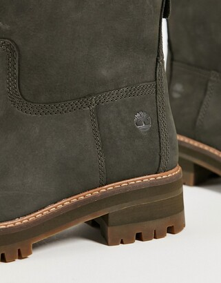Timberland faux fur lined ankle boots in brown