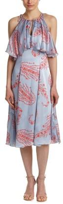 Cynthia Rowley Women's Midi Dress with Popover Detail