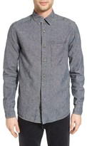 Current/Elliott Men's Slim Fit Linen & Cotton Sport Shirt