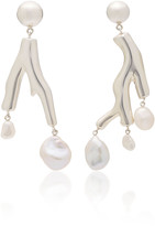 Agmes AGMES Baroque Coral Sterling Silver and Pearl Earrings