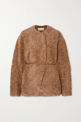 Vanessa Bruno - Palena Belted Faux Shearling Jacket - Camel