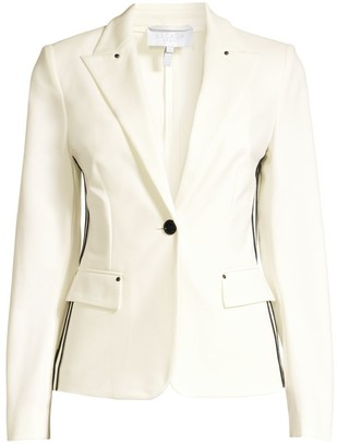 Escada Sport Punto Milano Striped Blazer