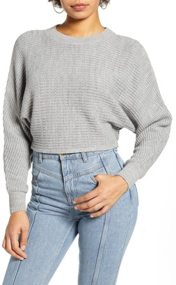 Leith Dolman Sleeve Crop Crewneck Sweater