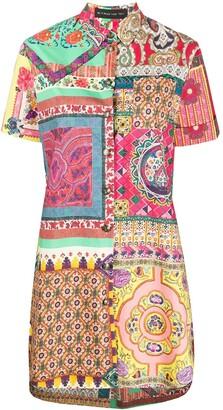 Etro Printed Patchwork Shirt Dress