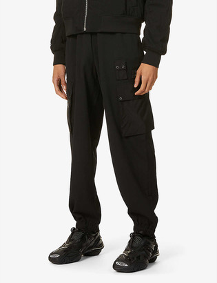 McQ Relaxed-fit tapered stretch-twill trousers