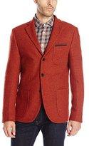 Scotch & Soda Men's Woollen Blazer with Printed Lining