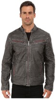 Affliction Two Pistons Faux-Leather Moto Jacket