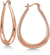 Giani Bernini Oval Hoop Earrings in 18k Rose Gold-Plated Sterling Silver, Only at Macy's