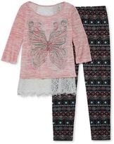 Knitworks Knit Works Girls Legging Set - Girls 7-16 and Plus