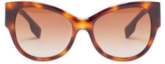 Burberry Logo Tortoiseshell Acetate Sunglasses - Womens - Tortoiseshell