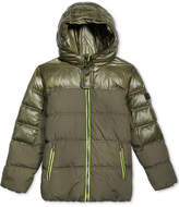 Michael Kors Pop Hooded Puffer Jacket, Big Boys (8-20)