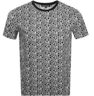 Michael Kors Logo T Shirt Black