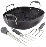 Anolon Hard-Anodized Non-Stick Oval Roaster (6 PC)