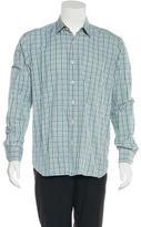 Saks Fifth Avenue Gingham Print Woven Shirt