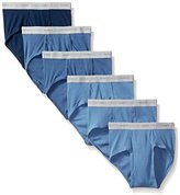 Hanes Men's 6-Pack FreshIQ Exposed Waistband Mid-Rise Brief