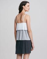 Laundry by Shelli Segal Spaghetti Strap Colorblock Tiered Dress