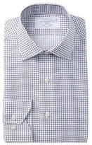Lorenzo Uomo Woven Check Trim Fit Dress Shirt