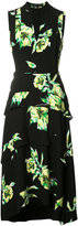 Proenza Schouler tiered floral print dress