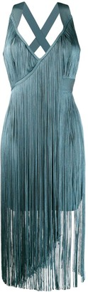 Herve Leger fringed midi dress