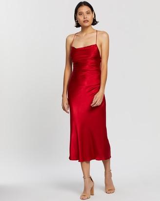 Shona Joy Wright Ruched Backless Slip Dress